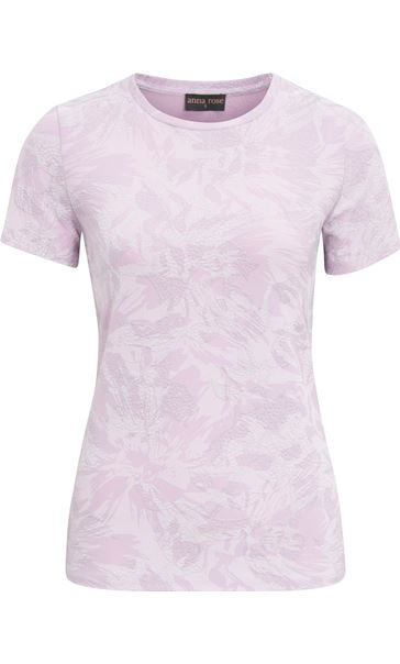 Anna Rose Textured Short Sleeve Top Lilac - Gallery Image 4