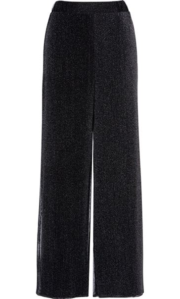 Anna Rose Shimmer Mesh Layered Wide Leg Trousers