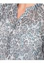 Anna Rose Animal Printed Georgette Blouse Grey/Blue - Gallery Image 3