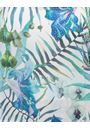 Exotic Floral Print And Embellished Short Sleeve Top Aqua/Lime - Gallery Image 4