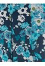 Anna Rose Pull On Floral Chiffon Skirt Teal Multi - Gallery Image 4