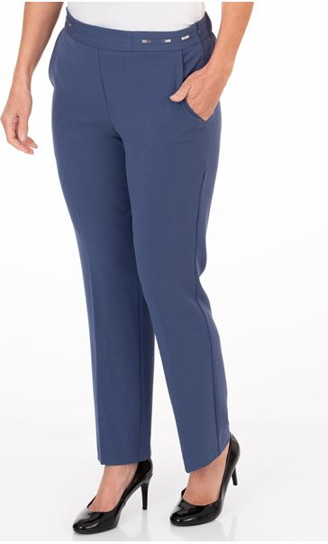 Anna Rose Straight Leg Trouser 29 inch Denim Blue