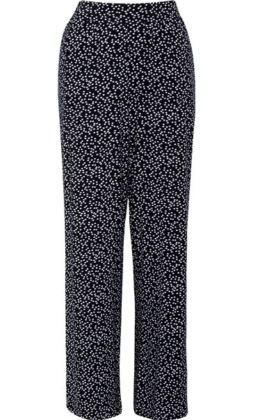 Anna Rose Wide Leg Spot Trousers Navy/White - Gallery Image 4