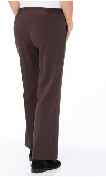 Anna Rose Straight Leg Trousers 29 Inch Brown - Gallery Image 2