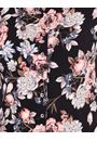 Anna Rose Floral Printed Jersey Blouse With Necklace Black/Dusty Pink - Gallery Image 4