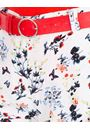 Anna Rose Floral Printed Belted Shorts White/Multi - Gallery Image 4