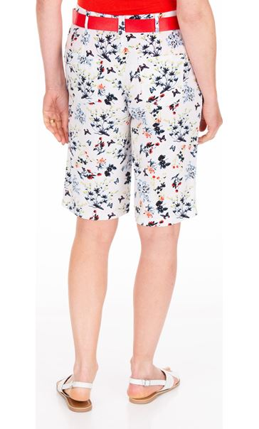Anna Rose Floral Printed Belted Shorts