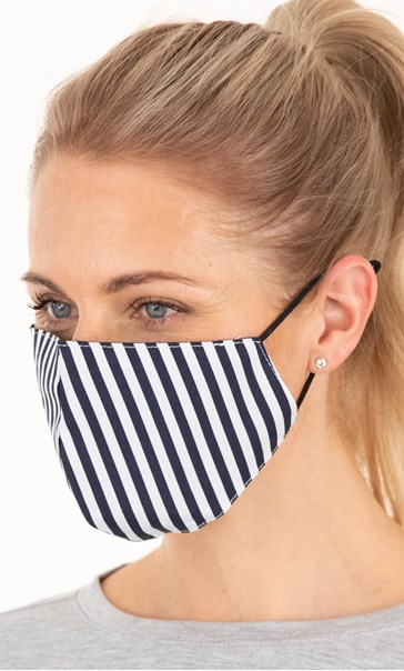 Double Layer Cotton Striped Face Covering