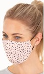 Double Layer Cotton Animal Print Face Covering Pink - Gallery Image 1