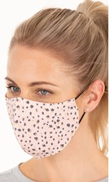 Double Layer Cotton Animal Print Face Covering