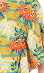 Floral And Striped Jersey Top Pear/Sea Blue/Orange - Gallery Image 3