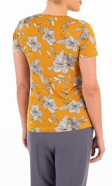 Anna Rose Printed V Neck Top