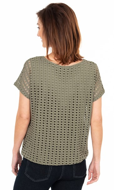 Layered Short Sleeve Top Moss/Green - Gallery Image 2