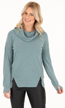 Super Soft Cowl Neck Top