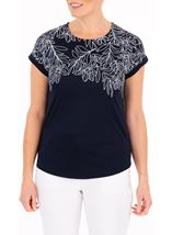 Anna Rose Embellished Jersey Top