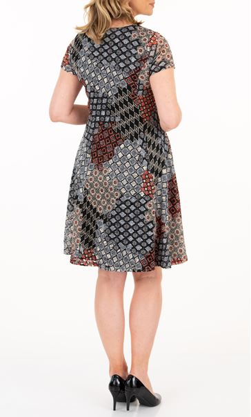 Anna Rose Printed Short Sleeve Dress