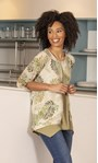 Double Layered Tunic Olive - Gallery Image 1