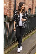 Butterfly Print Open Jacket
