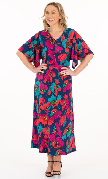 Bold Floral Printed Maxi Dress