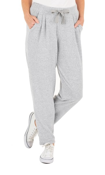 Supersoft Brushed Joggers Grey Marl