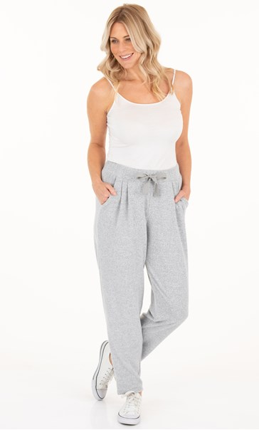 Supersoft Brushed Joggers - Grey Marl