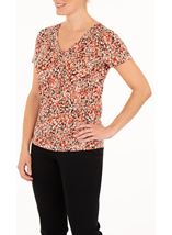 Anna Rose Petal Print Short Sleeve Top
