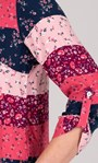 Anna Rose Floral And Stripe Top Pink Multi - Gallery Image 3