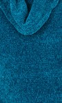 Cowl Neck Long Sleeve Chenille Top Teal - Gallery Image 3