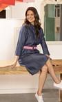 Belted Denim Shirt Dress Denim Blue - Gallery Image 1