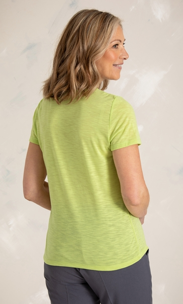 Anna Rose Short Sleeve Jersey Top - Lime