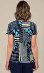 Anna Rose Printed Top Navy/Yellow/Multi - Gallery Image 2