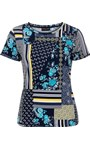 Anna Rose Printed Top Navy/Yellow/Multi - Gallery Image 3