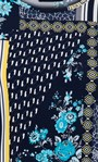 Anna Rose Printed Top Navy/Yellow/Multi - Gallery Image 4