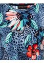 Anna Rose Abstract Print Top Blue/Coral Multi - Gallery Image 4