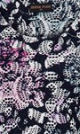 Anna Rose Printed Textured dress Navy/Pink Multi - Gallery Image 4