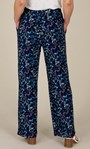 Anna Rose Floral Jersey Wide Leg Trousers Navy/Multi - Gallery Image 4