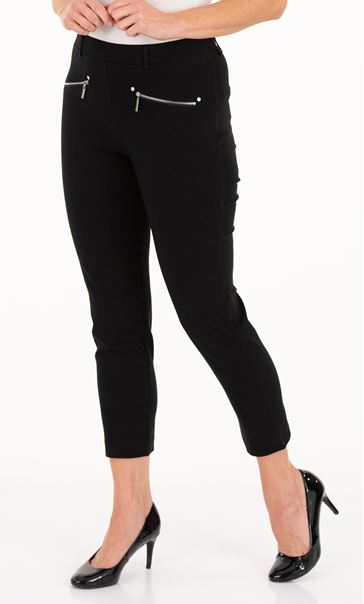 Anna Rose Pull On Stretch Trousers Black