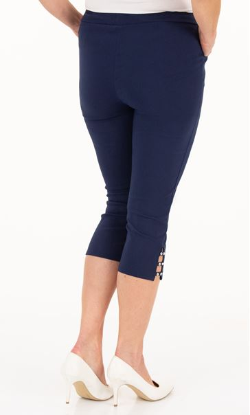 Anna Rose Cropped Embellished Trousers