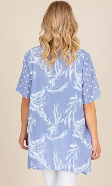 Printed Oversized Short Sleeve Top