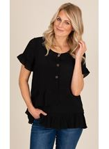 Frill Trim Short Sleeve Top