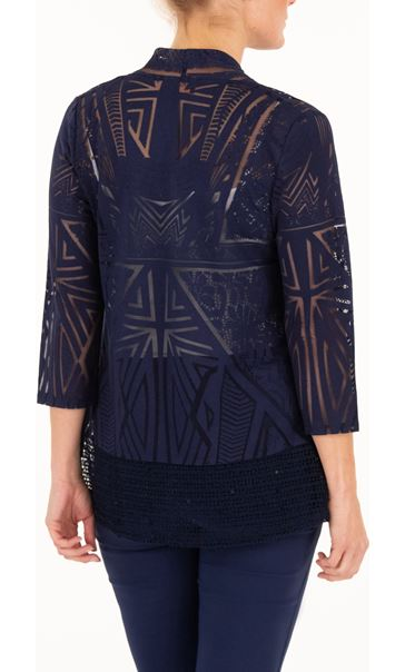 Anna Rose Open Front Cover Up - Navy