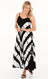 Bias Cut Tie Dye Maxi Dress
