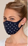 Star Embellished Face Covering Navy - Gallery Image 1