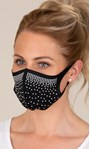 Embellished Face Covering Black - Gallery Image 1