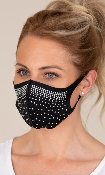 Embellished Face Covering Black