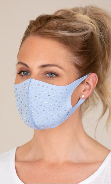 Embellished Face Covering - Blue