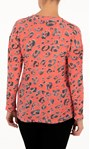 Anna Rose Animal Print Top With Necklace Coral/Black - Gallery Image 2