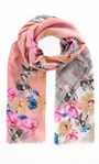 Anna Rose Floral Print Scarf Pink - Gallery Image 1
