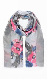 Anna Rose Bouquet Print Scarf