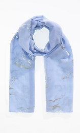 Anna Rose Foil Butterfly Print Scarf